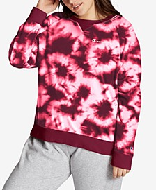 Plus Size Tie-Dyed Sweatshirt