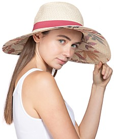 Painted-Print Floppy Hat, Created for Macy's