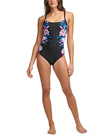 Printed Tummy Control One-Piece Swimsuit