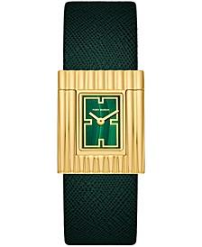 Women's Vonn Green Serpentine Leather Strap Watch 28x35mm