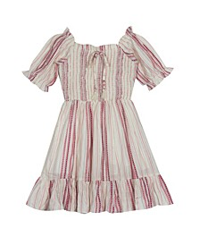 Big Girls Smocked Gauze Dress