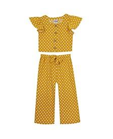 Big Girls Printed Dot Pant Set, 2 Piece