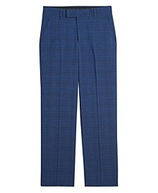 Big Boys Stretch Textured Plaid Pants