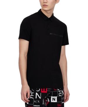 Armani Exchange Men's Linear Logo Polo Shirt