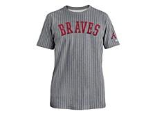 Men's Atlanta Braves Throwback Pinstripe Crew Shirt