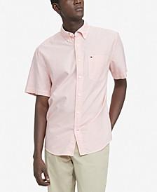 Men's Classic-Fit TH Flex Stretch Ducal Poplin Striped Shirt