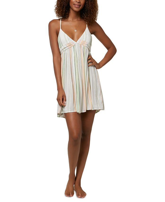 O'Neill - Juniors' Saltwater Solids Striped Cover-Up Dress