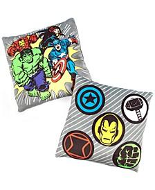 "Avengers 12""x12"" 2-Pk Squishy Dec Pillows"