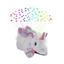Pillow Pets Glittery Unicorn Sleep time Lite Plush Night Light