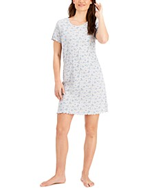 Cotton Pointelle Sleep Shirt Nightgown, Created for Macy's