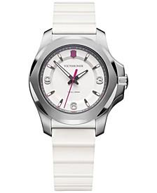 Women's I.N.O.X. V White Rubber Strap Watch 37mm