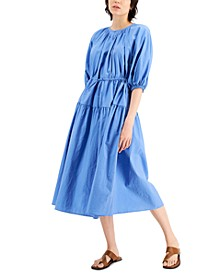 Kuban Tiered Elbow-Sleeve Dress