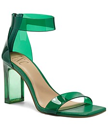INC Women's Makenna Two-Piece Clear Vinyl Dress Sandals, Created for Macy's