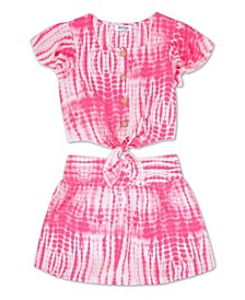 Big Girls Tie Dye Skort, 2 Piece Set