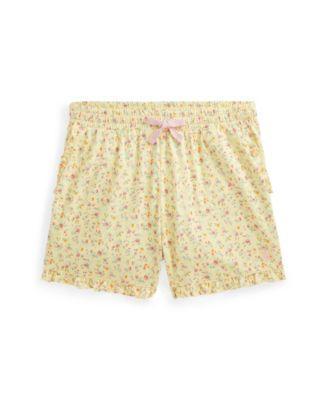 폴로 랄프로렌 Polo Ralph Lauren Big Girls Floral Jersey Shorts,Yellow Multi Floral