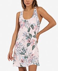 Vivienne Floral-Print Lace-Back Cutout Nightgown