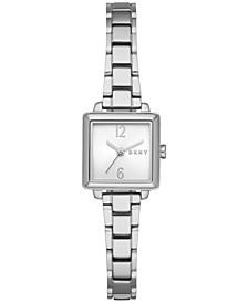 Women's Crosstown Three-Hand Silver-Tone Stainless Steel Watch, 22mm