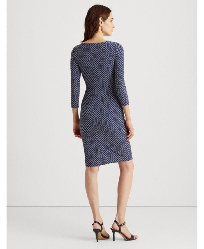 Lauren Ralph Lauren Floral Jersey Surplice Dress & Reviews - Dresses - Women - Macy's
