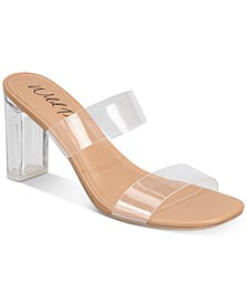 Zandria Two-Piece Clear Vinyl Dress Sandals, Created for Macy's