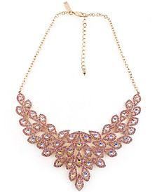 """Gold-Tone Crystal Teardrop Orbital Statement Necklace, 17"""" + 3"""" extender, Created for Macy's"""