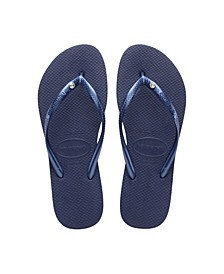 Women's Slim Swarovski Crystal II Flip Flop Sandals