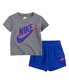 Little Boys Cargo Shorts Set