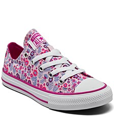 Little Girls Floral Chuck Taylor All Star Casual Sneakers from Finish Line
