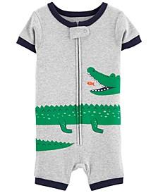 Baby Boys Alligator Cotton Romper Pajamas
