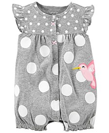 Baby Girls Bird Snap-Up Romper