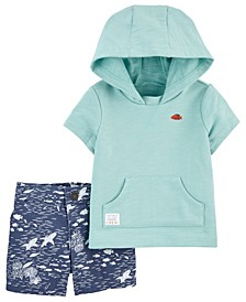 Baby Boys Hooded Tee and Short Set, 2 Pieces