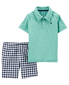 Baby Boys Jersey Polo and Short Set, 2 Pieces
