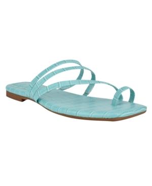 Nine West Sandals WOMEN'S DARBIE SQUARE TOE TOE-RING SANDALS WOMEN'S SHOES