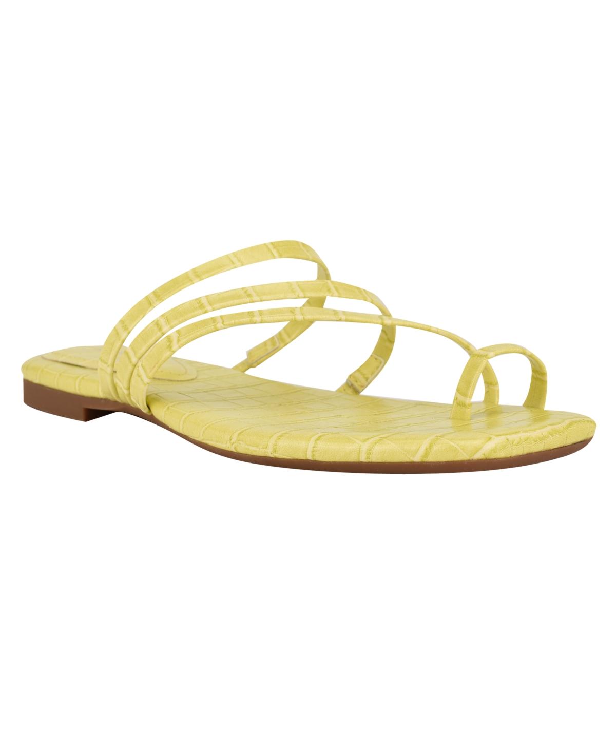 Nine West Women's Darbie Square Toe Toe-Ring Sandals Women's Shoes