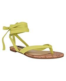 Women's Tiedup Tie-Up Flat Thong Sandals