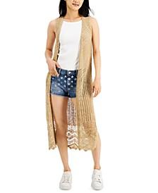 Juniors' Cotton Crochet Vest