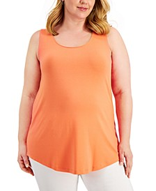 Plus Size Solid Tank Top, Created for Macy's