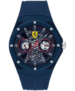 Men's Aspire Blue Silicone Strap Watch 44mm