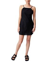 Women's Woven Ally Strappy A-line Tennis Mini Dress