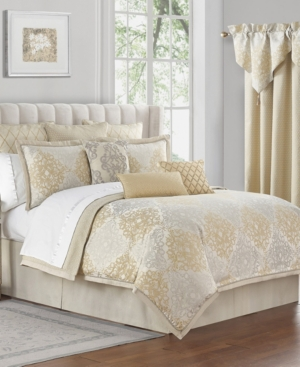 Waterford Comforters & quilts WYNNE JACQUARD 4 PIECE COMFORTER SET, QUEEN BEDDING