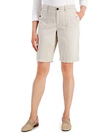 Petite Utility-Pocket Stretch-Waist Shorts, Created for Macy's