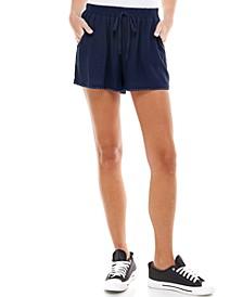 Juniors' Solid Pom Pom Shorts