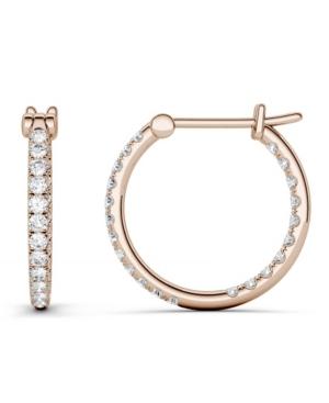 Moissanite Hoop Earrings 3/8 ct. t.w. Diamond Equivalent in 14k White Gold or Rose Gold