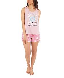 Snack Love Tank Top & Shorts Pajama Set