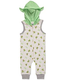 Baby Boys Baby Yoda Sleeveless Hooded Romper