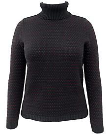 Birdseye Turtleneck Sweater, Created for Macy's