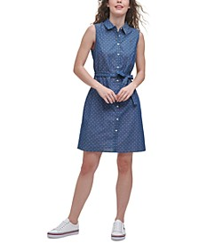 Cotton Check Shirtdress