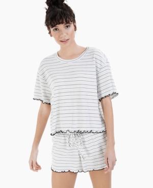 Lettuce-Edge Pajama Shorts Set