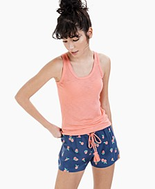 Ribbed Tank Top & Printed Sleep Shorts, Created for Macy's