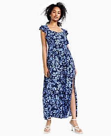 Floral-Print Ruffled Maxi Dress