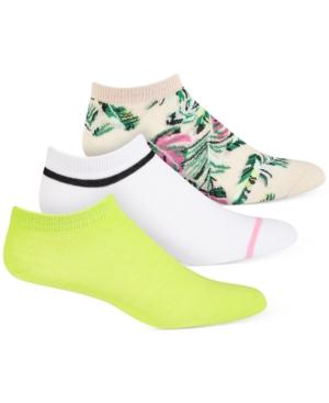 Women's 3pk Palm Neon No-Show Socks